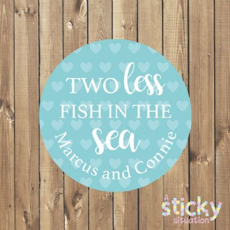 Personalised 'Two Less Fish in the Sea' Stickers